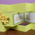 BE 1026 shutter card - friend yellow and green 1